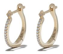 18kt 'Britanny' Goldohrringe mit Diamanten