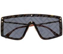 Sonnenbrille mit Monogramm-Print