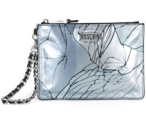 broken glass print clutch