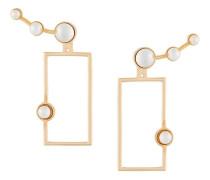 'Lava' Ohrringe mit Perlen