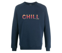 "Sweatshirt mit ""Chill""-Print"