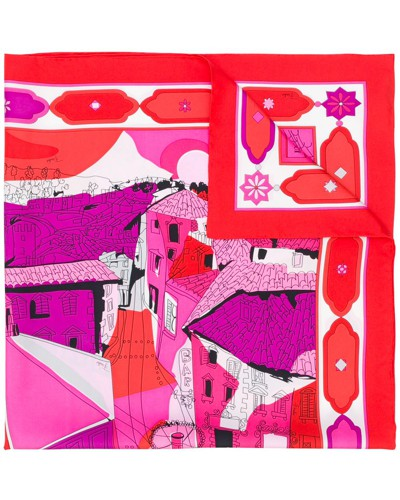 Seidenschal mit Florenz-Print