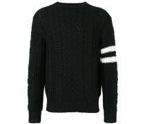 stripe patch sweater