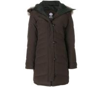 coyote fur hooded coat