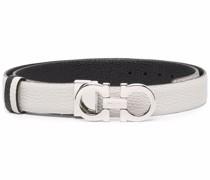 Gancini-plaque buckle belt