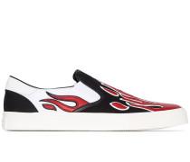 Slip-On-Sneakers mit Flammen