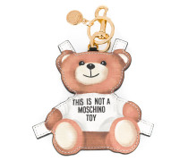 toy bear paper cut out keyring