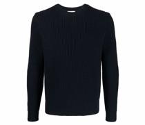 Gerippter Pullover mit Rundhalsausschnitt