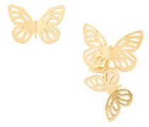 Vergoldete Silberohrstecker mit Schmetterlingmotiv