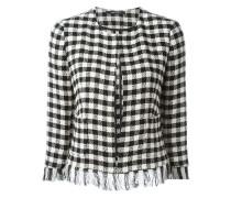 frayed check jacket