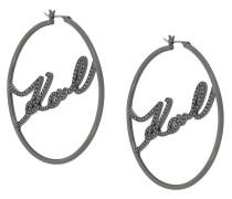 Karl hoop earrings