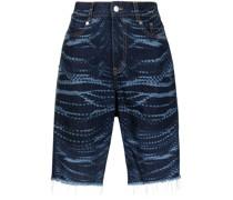 Jeans-Shorts mit Kristall-Print