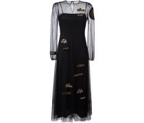 Ausgestelltes Kleid mit Tüllverzierung