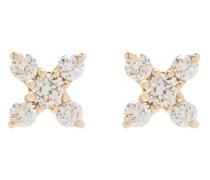 14kt Gelbgoldohrringe mit Diamanten