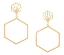 Ohrringe mit sechseckigem Design