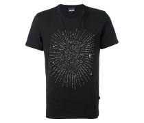 T-Shirt mit Löwenmotiv aus Nieten