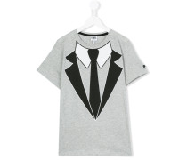 T-Shirt mit Krawatte-Print