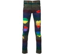 Jeans mit bunten Details