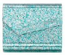 Micro Candy Clutch im Glitter-Look