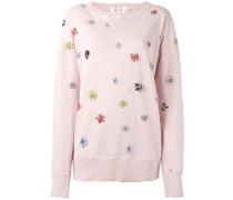 Sweatshirt mit floralen Verzierungen