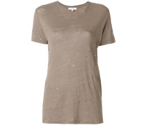 'Clay' T-Shirt in Distressed-Optik