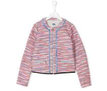 Tweedjacke mit Reißverschluss