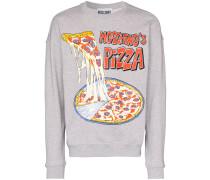 Sweatshirt mit Pizza-Print