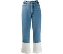 Jeans in Patchwork-Optik