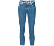 frayed detail skinny jeans