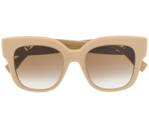 Oversized-Sonnenbrille mit Logo
