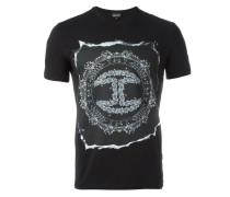 T-Shirt mit Sicherheitsnadel-Print