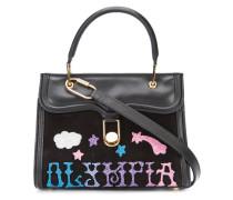 Mini Handtasche mit Logo-Applikation