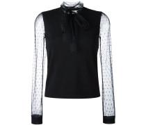 Pullover mit transparenten Ärmeln