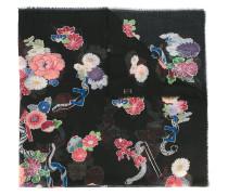 Wollschal mit BlumenPrint