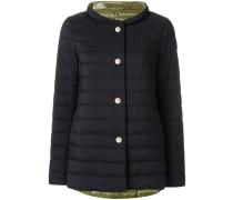 boat neck puffer jacket