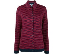 patterned knitted shirt