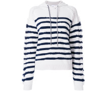 striped hooded sweatshirt