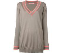 - Oversized-Pullover mit V-Ausschnitt - women