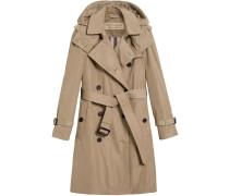 Mantel mit abnehmbarer Kapuze