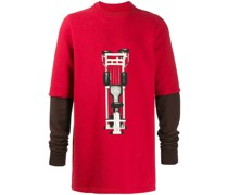 Langes Sweatshirt mit Print