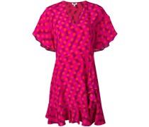 Gepunktetes Kleid mit Wellenmuster