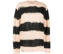 distressed striped jumper