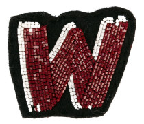 Taschen-Patch mit Perlenstickerei - women