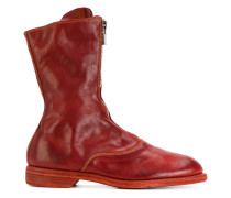 panelled zip up boots
