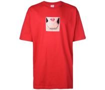 T-Shirt mit Halsketten-Print