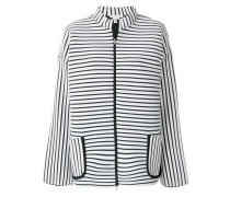 striped fitted jacket