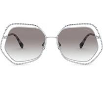 Geometrische 'La Mondaine' Sonnenbrille