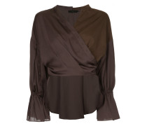 panelled wrap around blouse