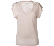T-Shirt mit Schnürung - women - Leinen/Flachs