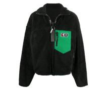 oversized funnel-neck jacket